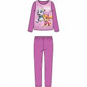 Pyjama long subli velours manches longues licences fille VIOLET PAW PATROL 10 ANS