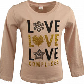 Tee shirt manches longues fille ROSE 14 ANS