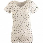 Tee shirt manches courtes femme AOP KAKI T50\52