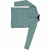 Sweat polaire zip homme CHINE BLEU/NOIR XXL