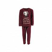 Pyjama fille velours PRUNE 6 ANS