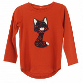 Tee shirt manches longues fille TERRACOTA 10ANS