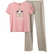 Pyjama long manches courtes femme ROSE T46\48