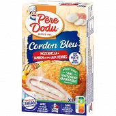 Père Dodu cordon bleu dinde aux herbes mozzarella sans antibiotiques 2x100g
