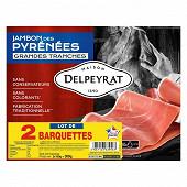 Delpeyrat jambon des Pyrénées lot 2x6 grandes tranches 300g