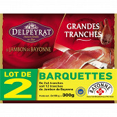 Delpeyrat jambon de bayonne 2x6 grandes tranches 300g