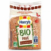 Harrys pain de mie pavé bio aux graines de quinoa et tournesol 250g