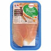 Cora 2 escalopes extra fines de poulet blanc sans OGM sans antibiotiques