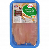 Cora aiguillettes de poulet blanc sans ogm sans antibiotiques