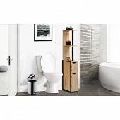 Etagère wc 2 portes bois, métal timeo