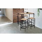 Ensemble Memphis table bar + 4 tabourets