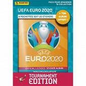 Album Panini - UEFA Euro 2020 stickers 2021 tournament edition 4 pochettes + album offert