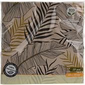 Lot de 20 serviettes collection nature