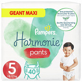 Pampers harmonie pants couches-culottes taille 5 - 40 culottes 11-16kg
