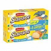 Brossard lot de 3 savane pocket x7 yaourt + 1 paquet offert 840g