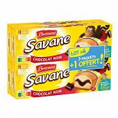 Brossard lot de 3 savane pocket x7 chocolat noir +1 offert 840g
