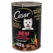 Cesar natural godness boite en terrine pour chien adulte riche en boe