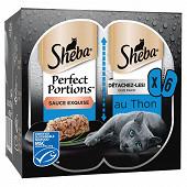 Sheba perfect portions barquettes en sauce au thon msc pour chat adult