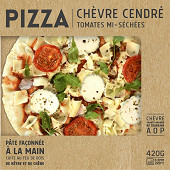 Pizza chèvre cendre tomates 420g