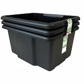 Bac noir lot de 3 45 litres