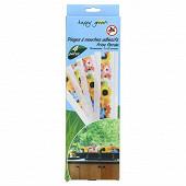Lot de 4 pièges à mouches adhésifs frises florales