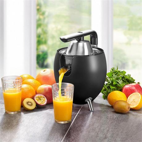 Kitchencook presse agrume électrique noir PRESSPOD_BLACK_MAT