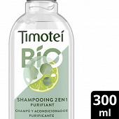 Timotei shampooing bio 2 en 1 purifiant citron vert & eucalyptus 300ml