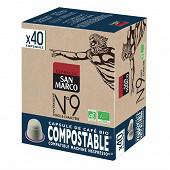 San marco capsules N°9 bio compost x40 204g