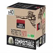 San marco capsules n°10 bio ristretto x40 204g