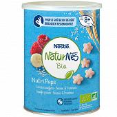 Nestlé naturnes bio nutripops banane framboise dès 8 mois 35g