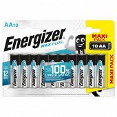 Piles Alcalines Energizer Max Plus AA/LR6, pack de 10