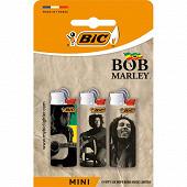 Bic mini briquet à pierre édition limitée - décors assortis bob marley