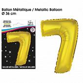 Ballon métallique or chiffre 7