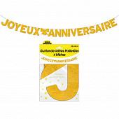 Guirlande lettres paillettee or 4 metres joyeux anniversaire