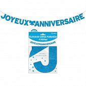 Guirlande lettres paillettee bleue 4 metres joyeux anniversaire