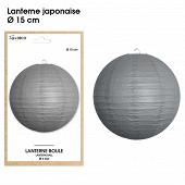 Lanterne japonaise diam 15cm gris