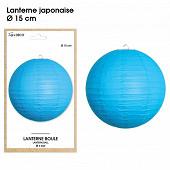 Lanterne japonaise diam diam15cm bleue