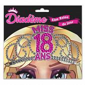 Diademe miss 18 ans fuchsia