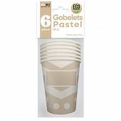 Gobelets x6 pastel 25cl blanc