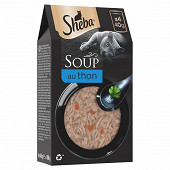 Sheba soupe sachets fraicheur aux filets de thon pour chat 4x40g