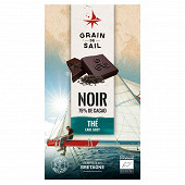 Grain de Sail Tablette chocolat noir thé Earl Grey bio - 100g