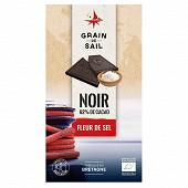 Grain de Sail Tablette chocolat noir fleur de sel bio - 100g