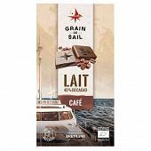 Grain de Sail Tablette chocolat lait et café bio  - 100g