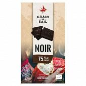 Grain de Sail Tablette chocolat noir 75% bio  - 100g