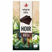 Grain de Sail Tablette chocolat noir 62% bio  - 100g