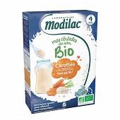 Modilac céréales bio riz carotte dès 4 mois 250g