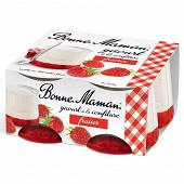 Bonne Maman yaourt confiture fraise 4x125g nouveau pack
