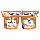 Mamie Nova yaourt gourmand mandarine citron vert 2x150g