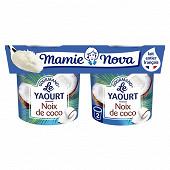 Mamie Nova  gourmand yaourt noix de coco 2x150g