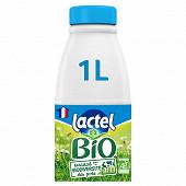 Lactel lait bio certifié AB 1/2 écrémé bouteille 1l
